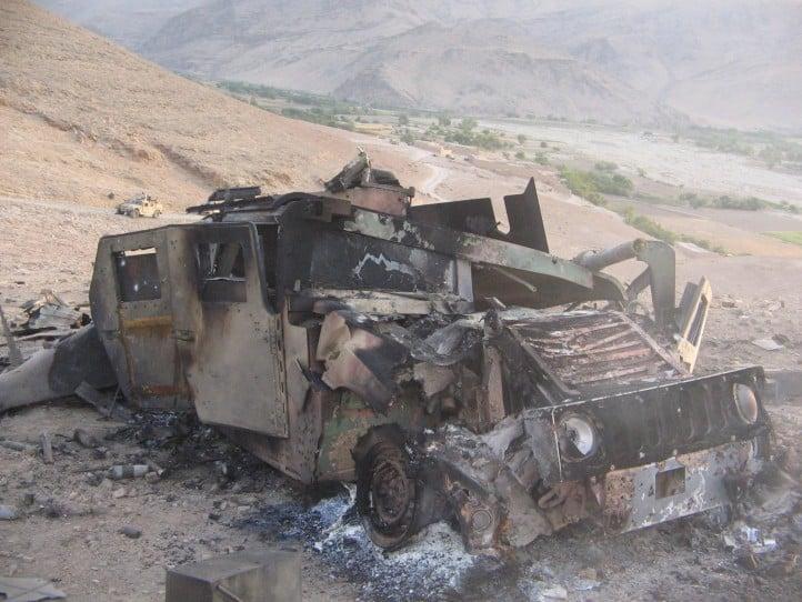فارياب: تدمير مدرعة وإصابة مليشي عميل في مديرية قيصار