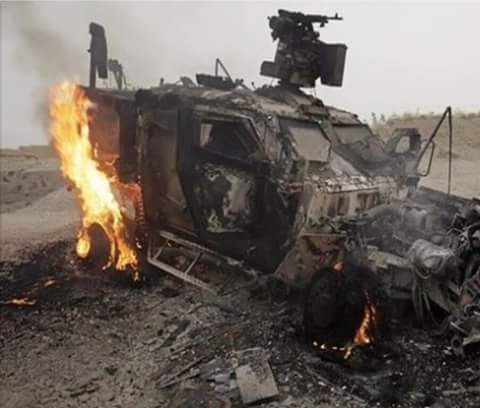 هلمند: تدمير مدرعة وإلحاق خسائر روحية للعدو في نادعلي