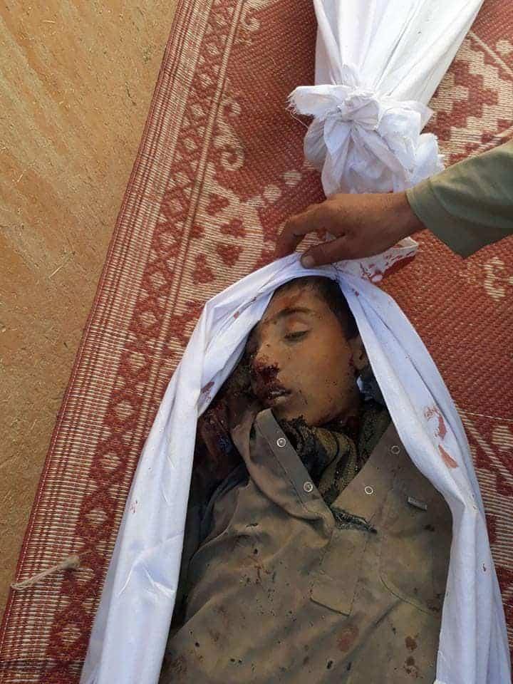 غزني: مروحيات العدو الوحشي تقتل 4 أطفال صغار في مديرية ده يك